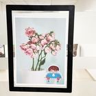 Photo Acryl Frame Custom Size Acrylic Wall Mountable Mount Floating Hanging Picture Photo Poster Display Frame With Holder