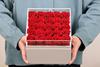 25 розы акриловой крышкой квадратная коробка