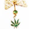 Gold green diamond