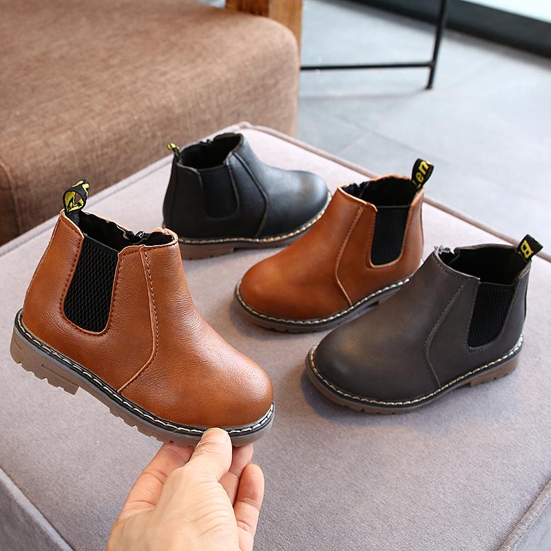Детские ботинки из ПУ кожи, для мальчиков и девочек, 2021