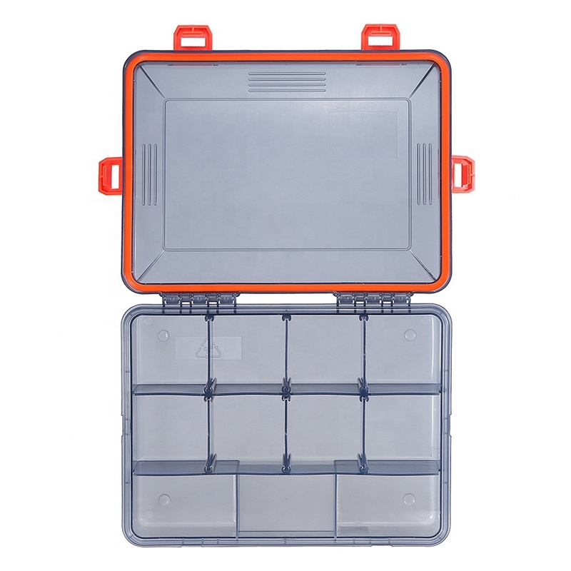 Waterproof Fishing Lure Bait Hook Tackle Storage Box Plastic Case Compartment