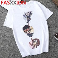 Наруто Мужская футболка, японское аниме Харадзюку футболка 2020 хип-хоп Graphic футболки Cool Cartoon 90s Streetwear Man(Китай)