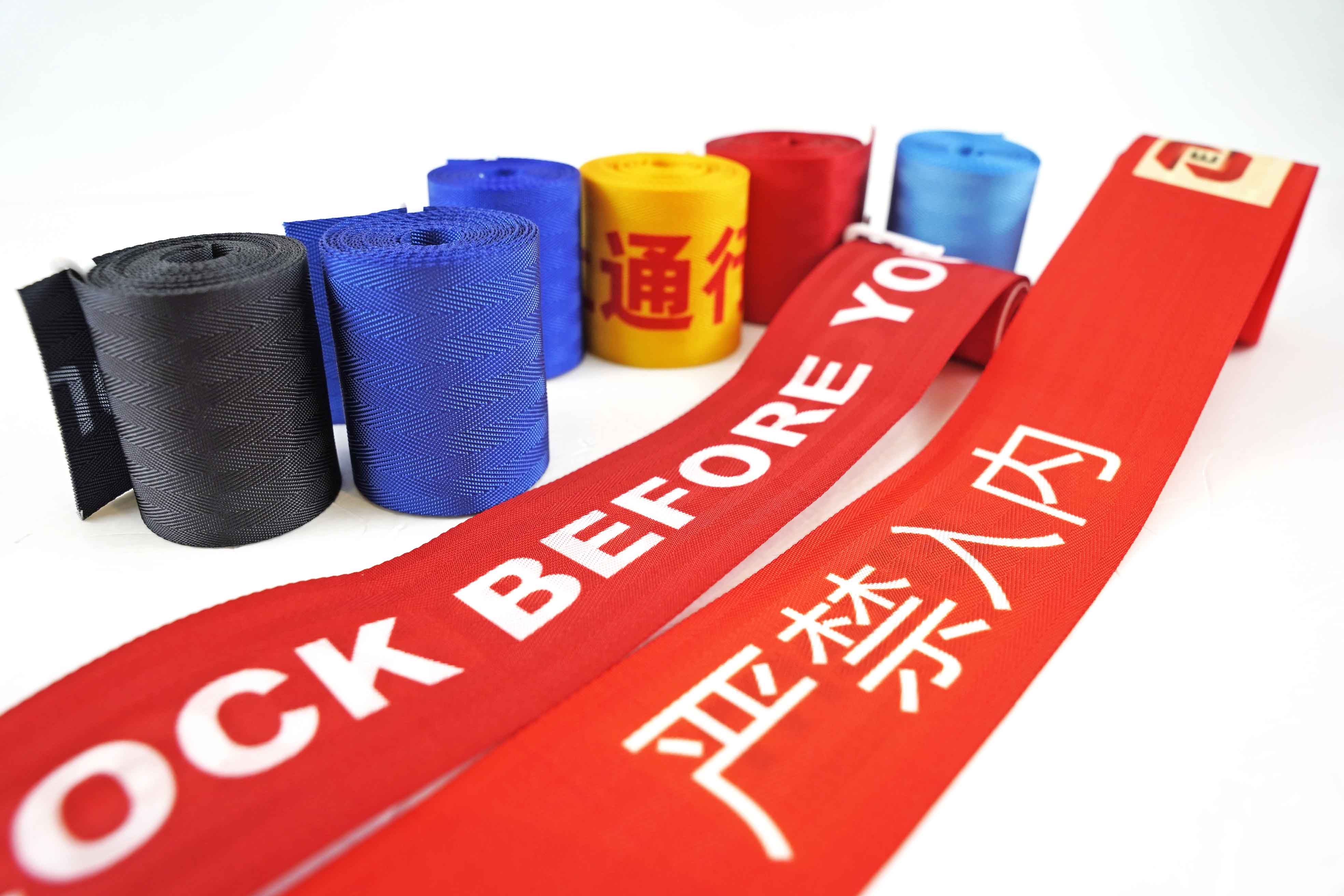 Customizable warning tape warning barrier hot print polyester webbing for Isolation zone