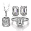 emerald moissanite jewelry set