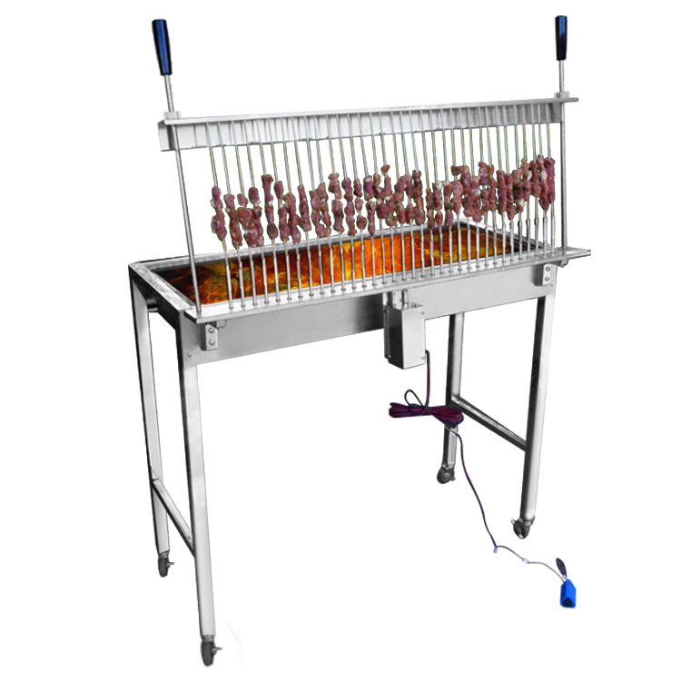 Restaurant Charcoal Traditional Skewer Stainless Steel Bamboo sticks bbq grill