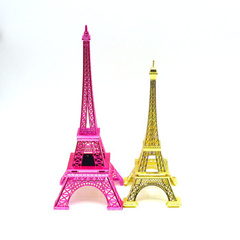 Scale down the famous metal building model, fine metal decoration with hidden jewelry box, Eiffel Tower