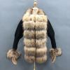 12.black with natural raccoon fur
