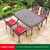 18-4 JL chair 1 braided pattern table 160*100cm