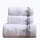 Luxury 5 Star Hotel Promotional 100% Organic Turkish Cotton 16s 21s 32s Face Facial Towel / Hand Towel / Bath Towel In Stock