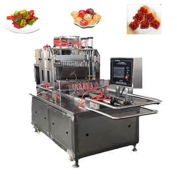 Factory made small lollipop jelly toffy hard sugar candy Vitamin gummy candy making machine
