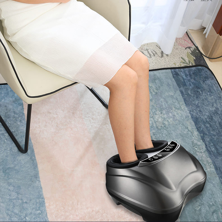 Comfortable infrared blood circulation scraping foot massager with heat