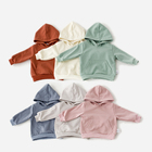 Hoodies 2021 New Wholesale Clothing Custom Solid Color 100% Cotton Baby Kids Hoodies