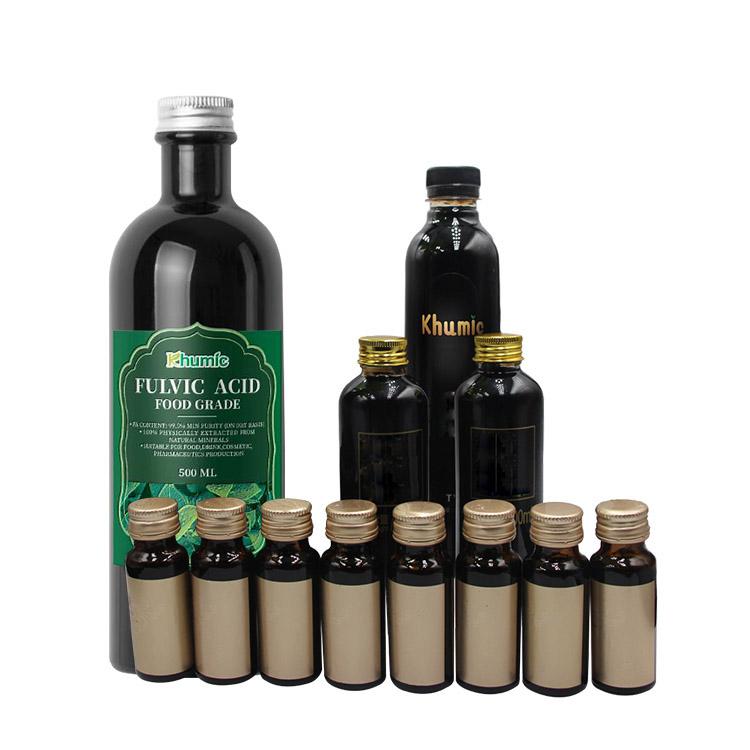 Supplement health food grade fulvic acid for human consumption