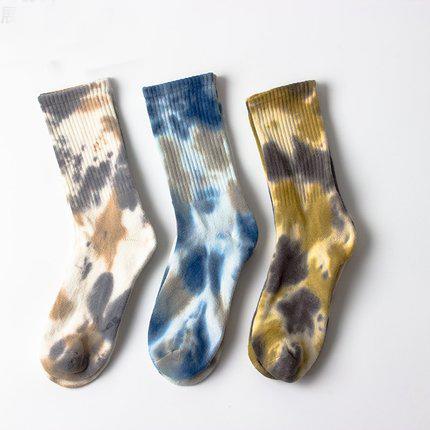Высококачественные толстые носки из махровой ткани Новое поступление подушки краситель носки оптовая продажа круглым спортивная одежда с галстуком; Умереть оригинальные носки сетчатые носки