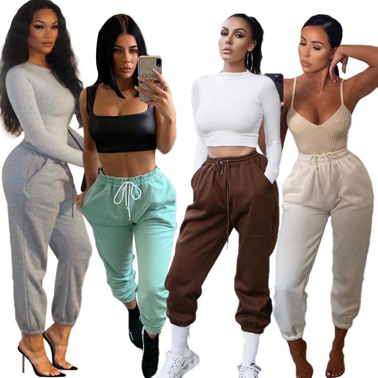 Custom Logos Ladies Sweatpants Loose Harem Pants Sport Jogger In Stocks Women Casual Pants & Trousers