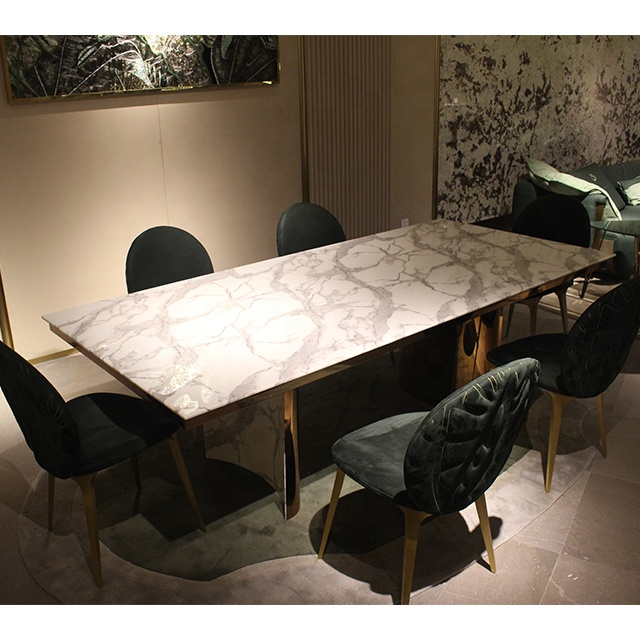 Dining Room Modern Design Natural White Marble Top Dining Table Set Stainless Steel Base Rectangular Dining Table Buy Marble Top Dining Table Set Italian Modern Dining Table Stainless Steel Dining Table Product On