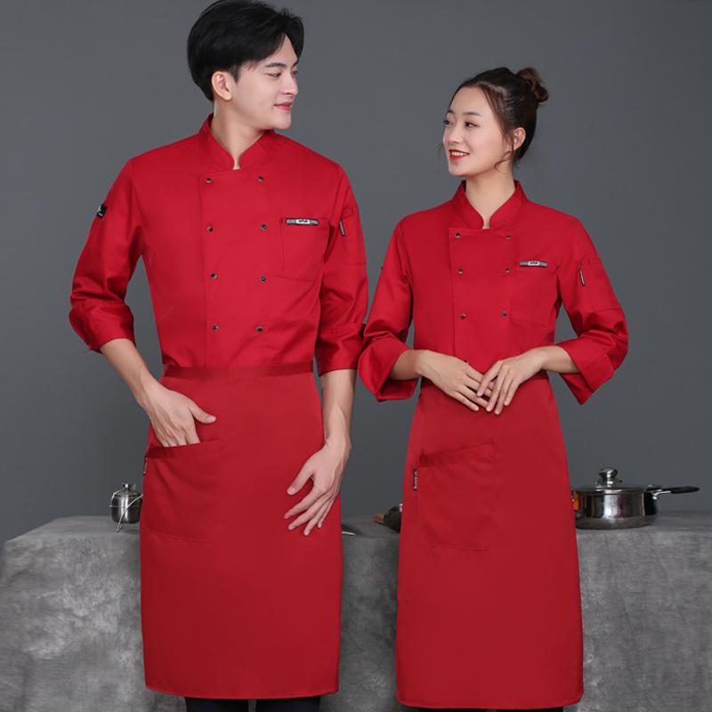 Новинка 2021, индивидуальная оптовая продажа, нейтральный белый хлопковый комбинезон шеф-повара для отеля, ресторана, мужская и женская форма шеф-повара