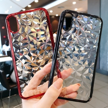 2021 Wholesale Shockproof Color Bumper Crystal Clear Diamond TPU Clear Phone Case for iPhone 11 pro max 12