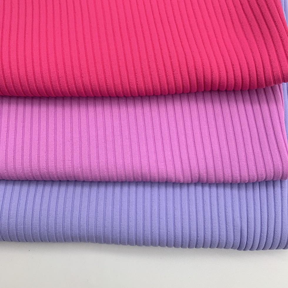 Popular knitted ribbed stripe swimwear fabric bikini dress nylon spandex fabric bulk
