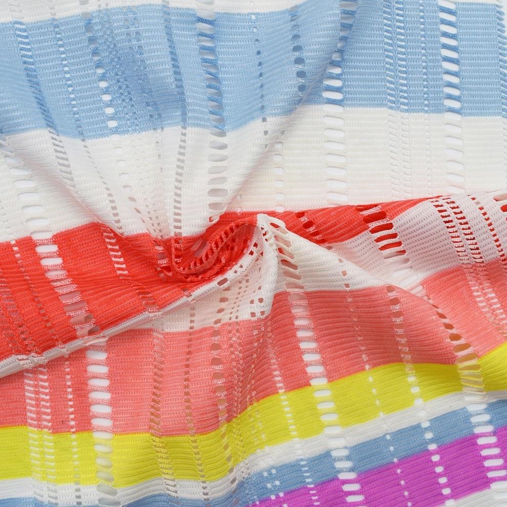 new design polyester spandex printing mesh fabric for swimwear bikini