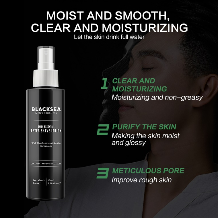 Wholesale Private Label High Quality Aloe Vera Aftershave Men After Shave Lotion Balm