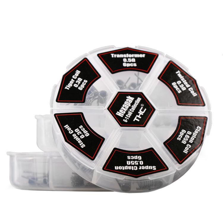 Good quality e cigarette 6 in 1 premade atomizer coil, Hexapak Coil