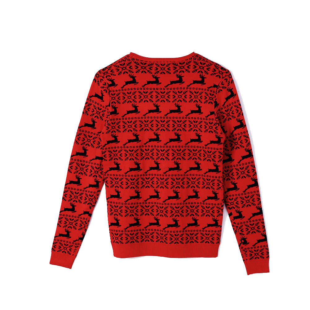 Crew Neck High Quality Unisex New Design Knit Men Pullover Sweater Christmas