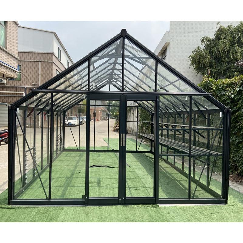 Сборная Солнечная комната, уличный маленький сборный современный алюминиевый Тепличный каркас, зеленый стеклянный дом