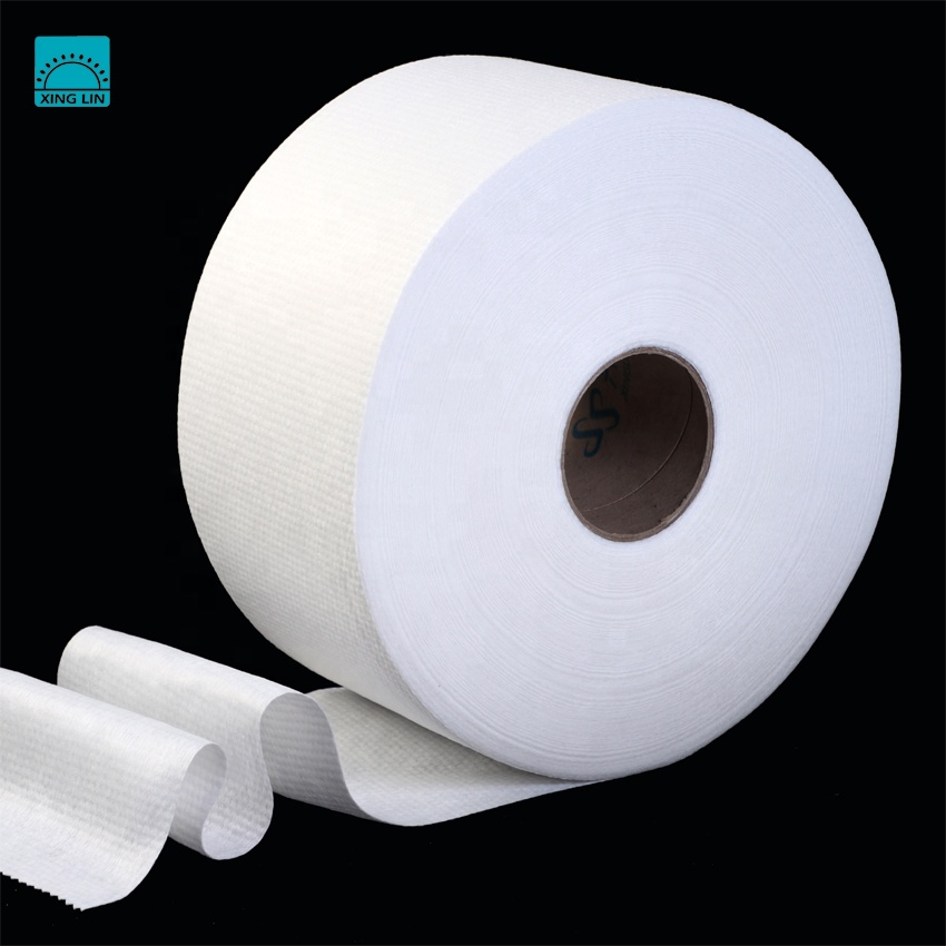 Good Price Spunlace Viscose&Polyester Nonwoven Fabric Parallel for making Wet Tissue