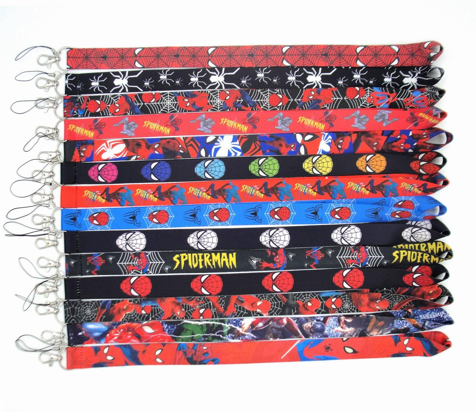 Hot Sale High Quality Cute Cartoon Spider Man Lanyards Fashion Marvel Design Lanyard Wholesale Promotional Gift Lanyards Custom