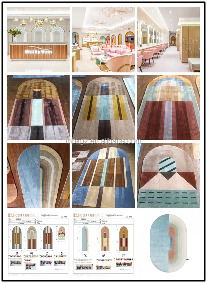Personalizado Industrial Tradicional Handmade 100% Lã Feitas À Mão Atada Tapete Persa de Seda Handtufted Acrílico Tufos De Lã Tapete Tapete