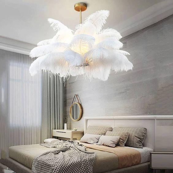 Китай, оптовая продажа, oem, поставщик страусиных перьев, Высококачественная рекламная лампа из страусиных перьев