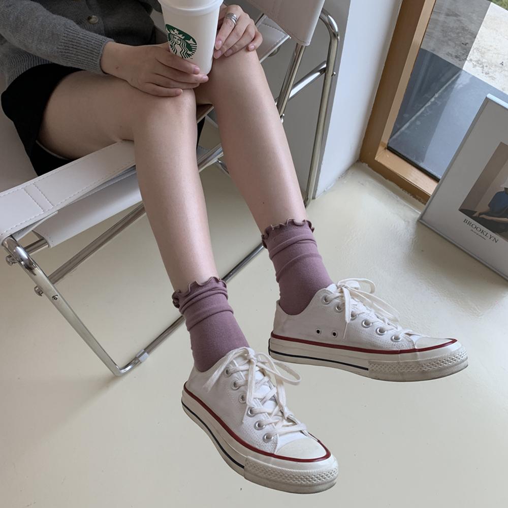 Wholesale Summer Fashion High Quality Fever Fiber Women Ruffle Slouch Crew Socks