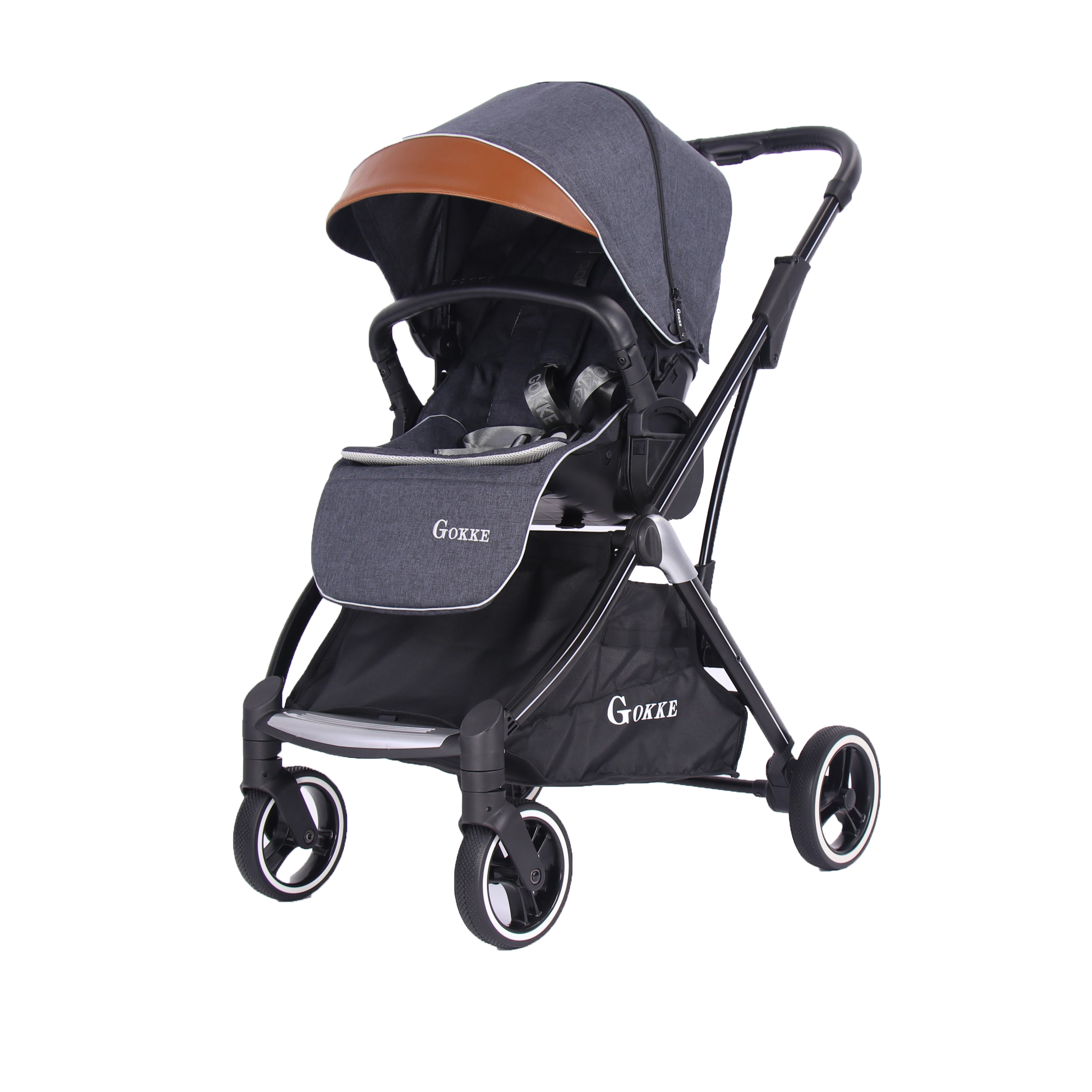 Luxury 3 In 1 Foldable Infant Travel Baby Stroller With Carseat Buy High Quality Baby Kids Toddler Stroller Aluminum Baby High Chair Travel System Baby Stroller Product On Alibaba Com