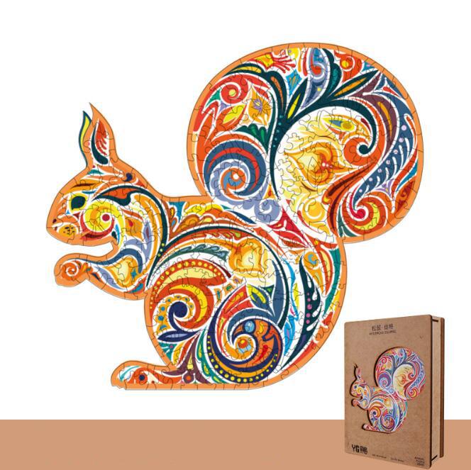 Красочные пазлы-животные для творчества, загадочный пазл для взрослых и детей, обучающий подарок, интерактивные игры, украшение для дома, игрушка
