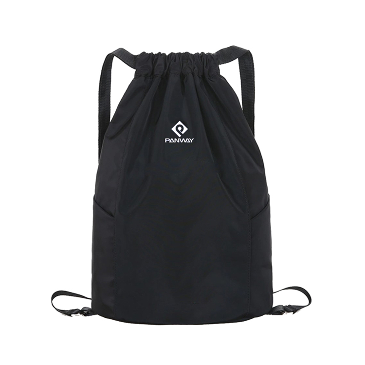 Top Quality Custom Logo Sport Gym Waterproof Oxford Fabric Drawstring Bag with Zipper