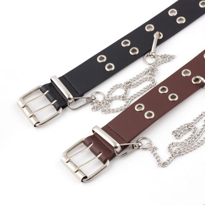 2020 Personalize Classic Plain Color Smooth Buckle Casual Leather Belt For Women TS865
