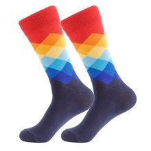 UGUPGRADE, брендовые качественные мужские носки , 20 цветов , полосатые клетчатые носки Зебра, Мона, Лиза, мужские носки из чесаного хлопка , Calcetines ...(Китай)