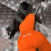 High-necked jumpsuit - orange