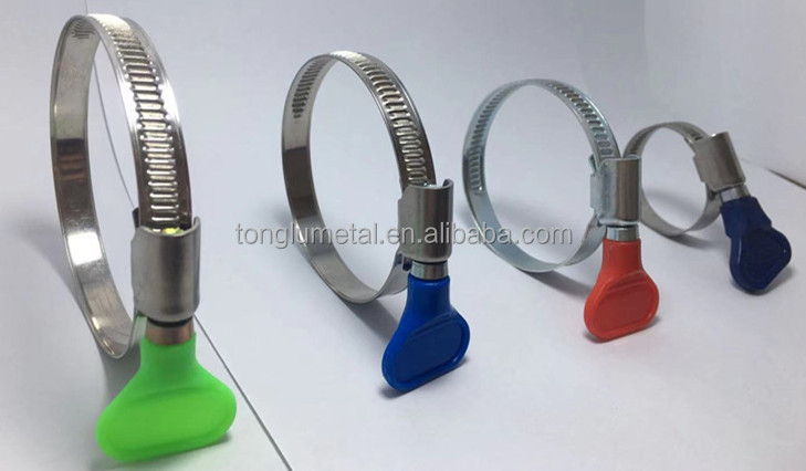 Made in China Worm Drive Wide varieties butterfly hose clamp with Thumb Screw