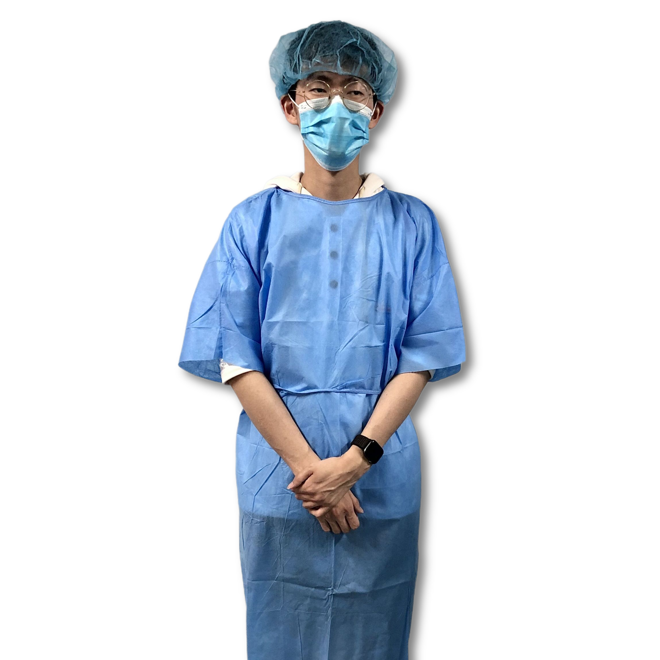 Wholesale factory price latex free blue sms short sleeve isolation gowns sterile disposable for civil use - KingCare   KingCare.net