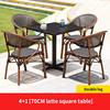 4 Teslin double leg chair 1 Latte square table 70cm