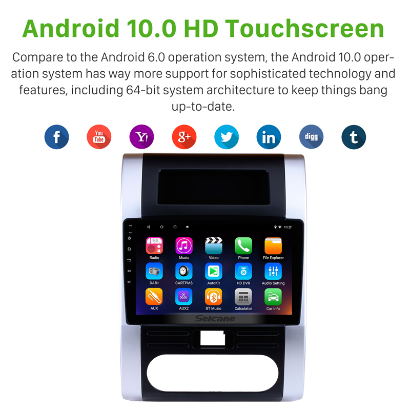 GPS Navigation System 10.1 Inch Android 10.0 Car Radio for 2008-2012 NISSAN X Trail T32 T31 Qashqai Dongfeng MX6 with Bluetooth