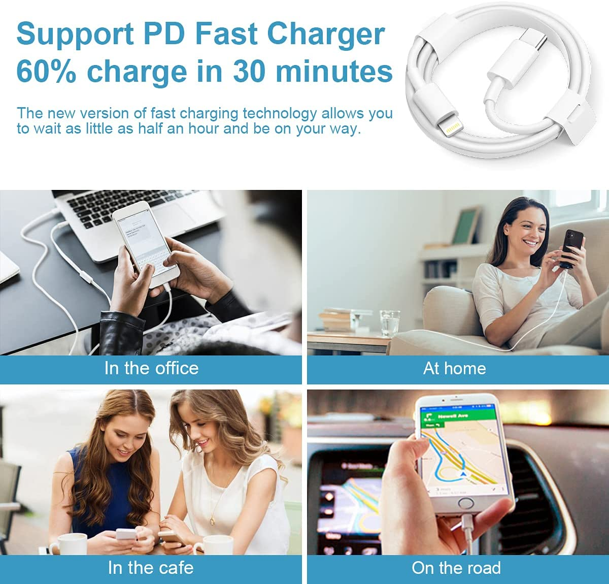 Top selling products 2021 PD18W 20W lighting to usb cable for iphone cable charger 13 12 x 1m 2m phone accessories