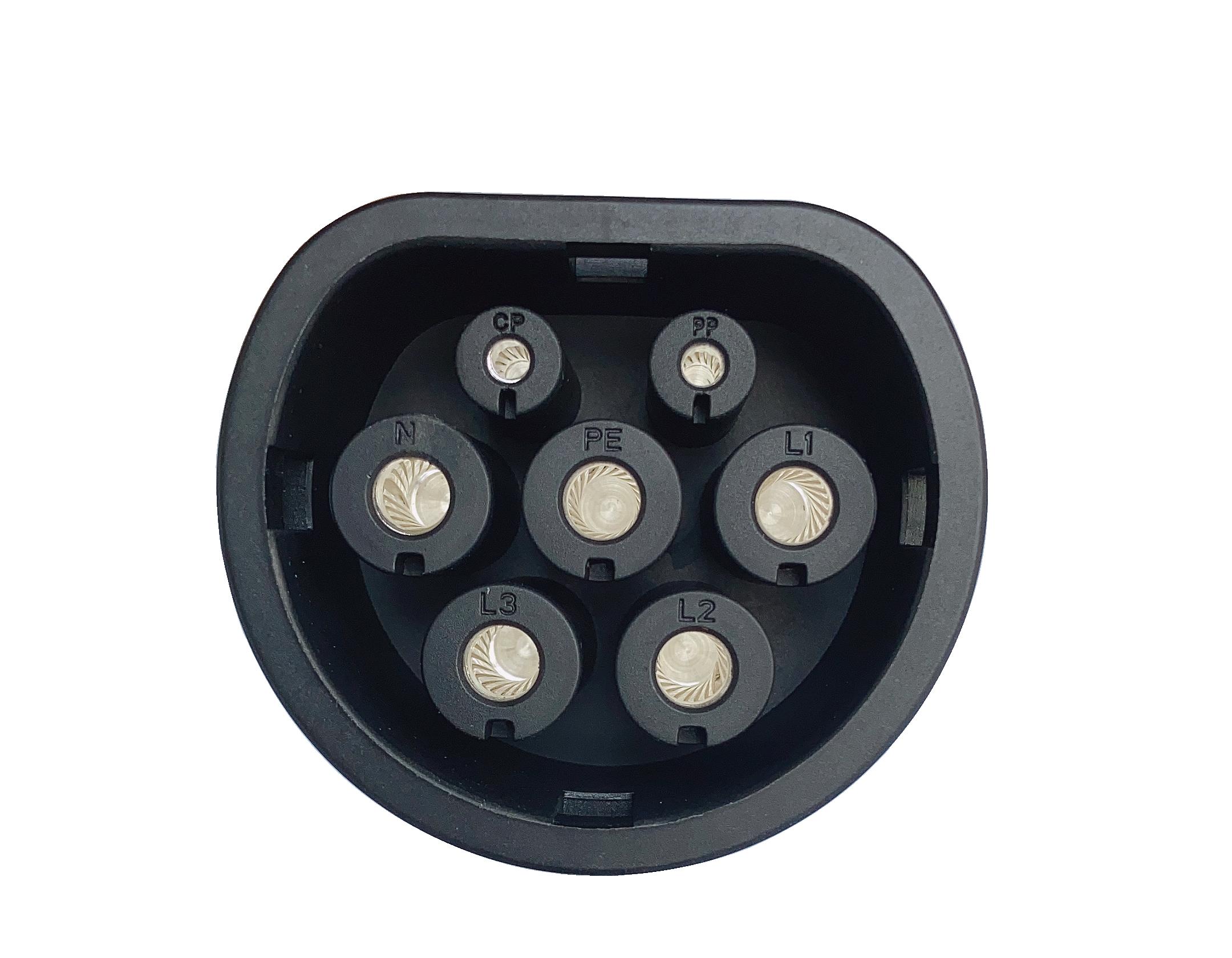 16 А 11 кВт OCPP ev зарядная станция переменного тока с трехфазным зарядным гнездом IEC типа 2