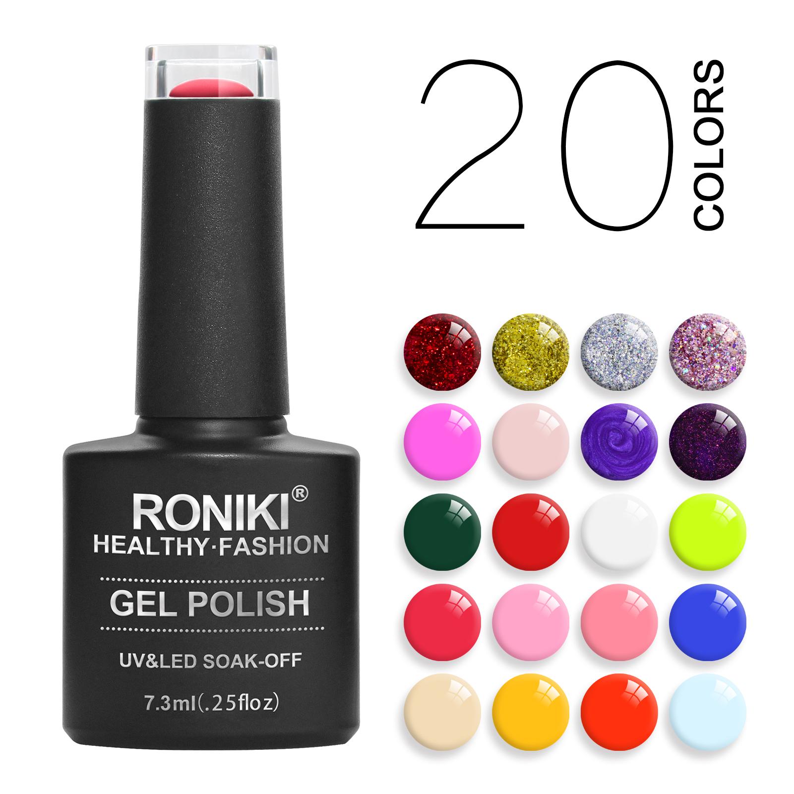 RONIKI Newest Acrylic Nail Gel Polish kit Colors Non Toxic Soak off Learner Manicure Private label UV Gel nail polish set