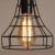 Vintage metal Outdoor lights Solar hanging lantern with Edison bulb