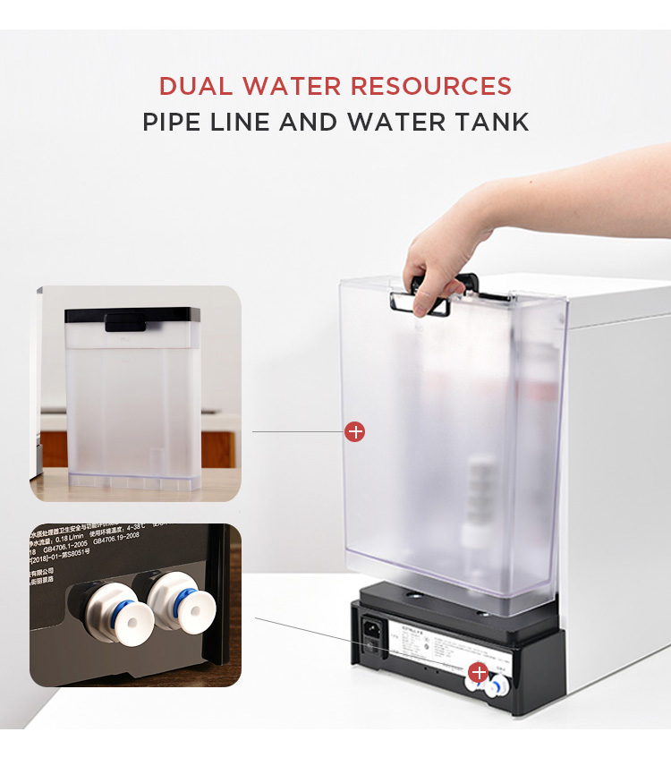 desktop hot and cold 5l water cooler dispenser with filter, hot and cold water purifiers