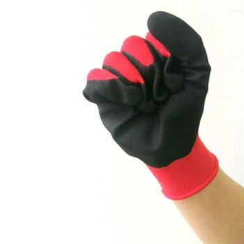 Integrity Amazon Supplier Color Purple And Black Nitrile Coated Polyester Glove