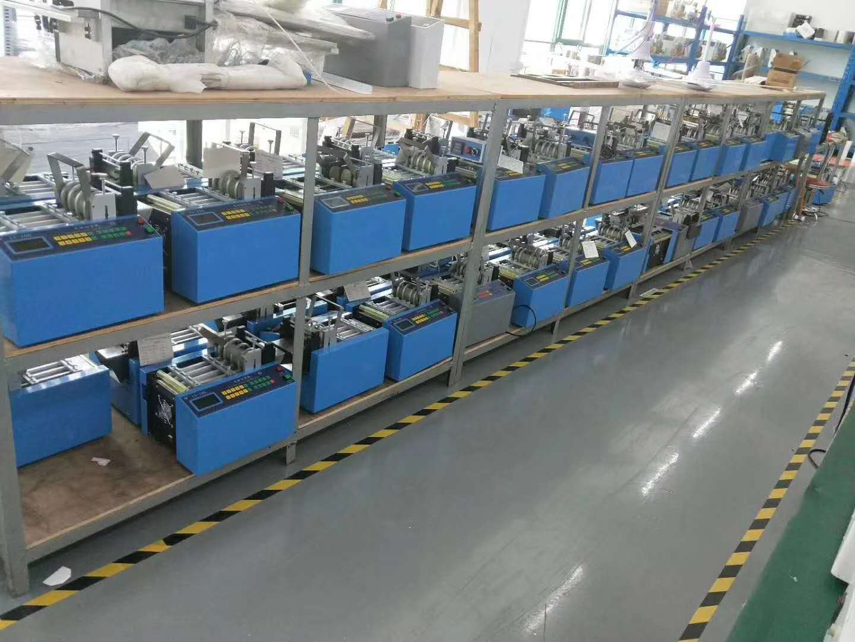 English operation automatic plastic pouch cutting machine pvc pouch sealing machine